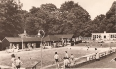 Camberley Blue Pool postcard