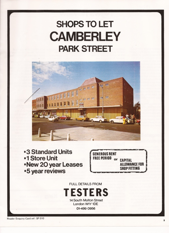 Shops to let 1976