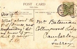 Mrs Bateman postcard 1