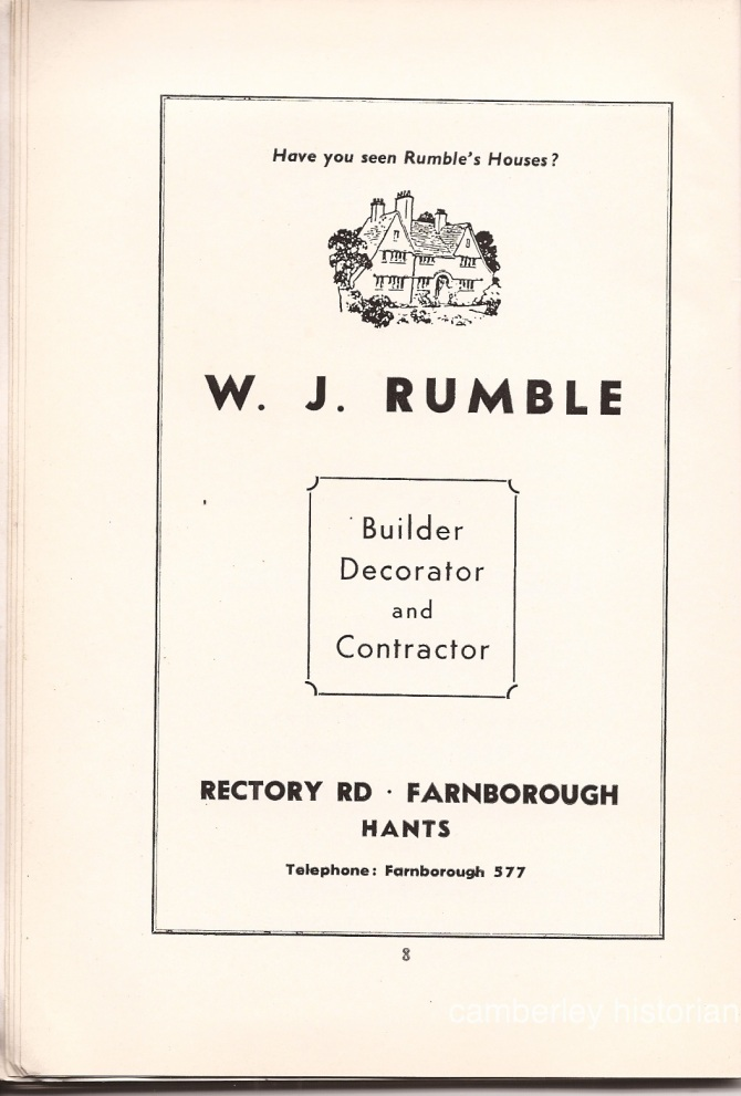 Camberley Guide 1950s 10