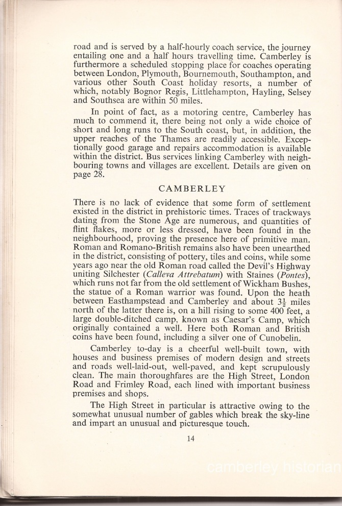 Camberley Guide 1950s 16