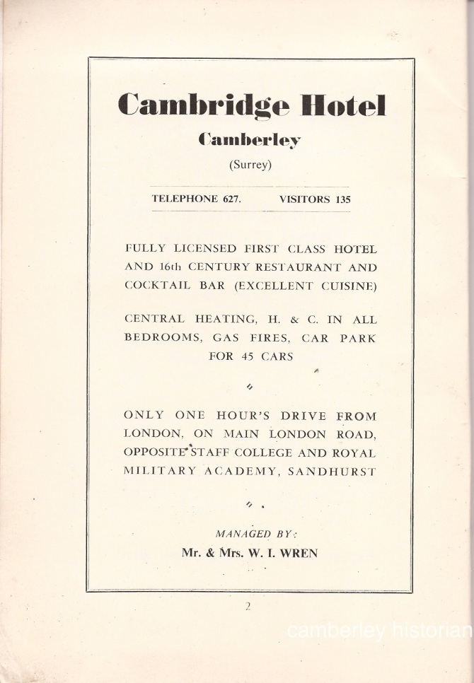 Camberley Guide 1950s 4