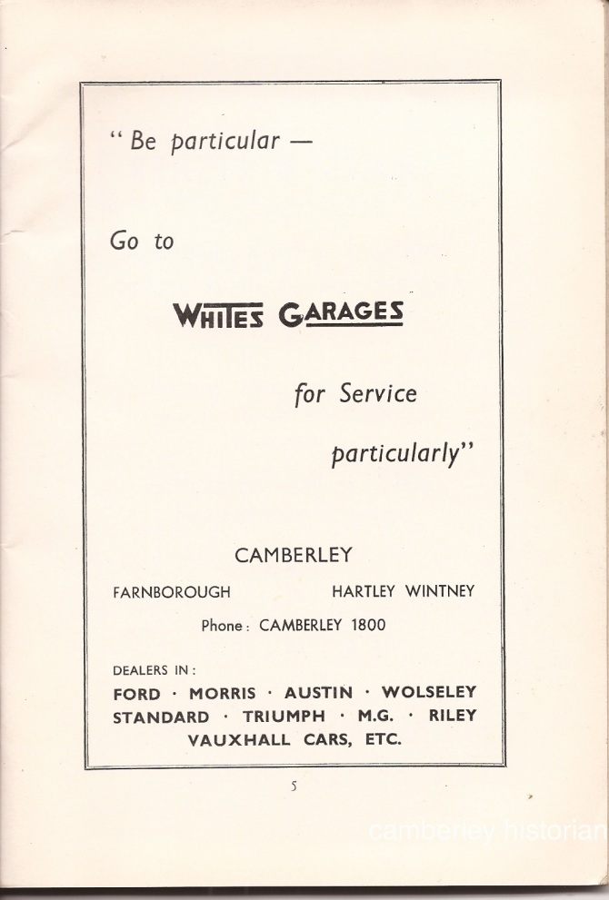 Camberley Guide 1950s 7