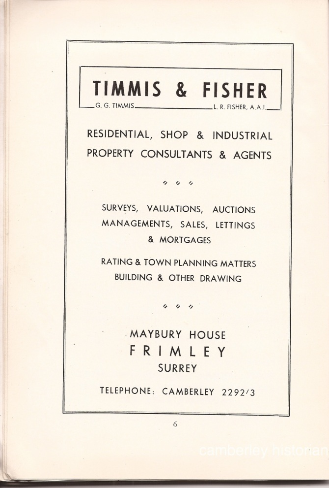 Camberley Guide 1950s 8