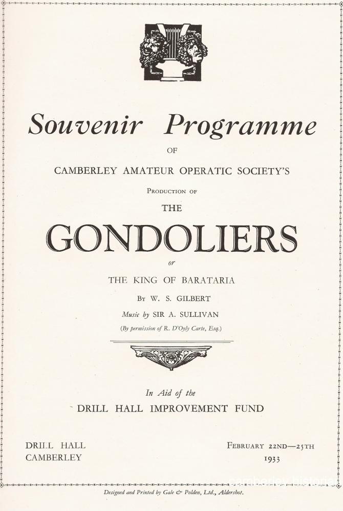 Gondoliers Programme