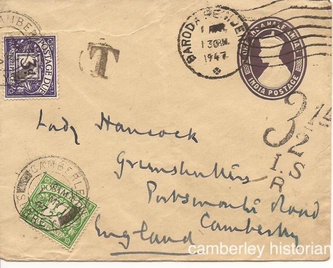 Lady Hancock letter