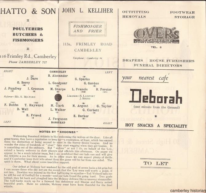1953 Football programme 2