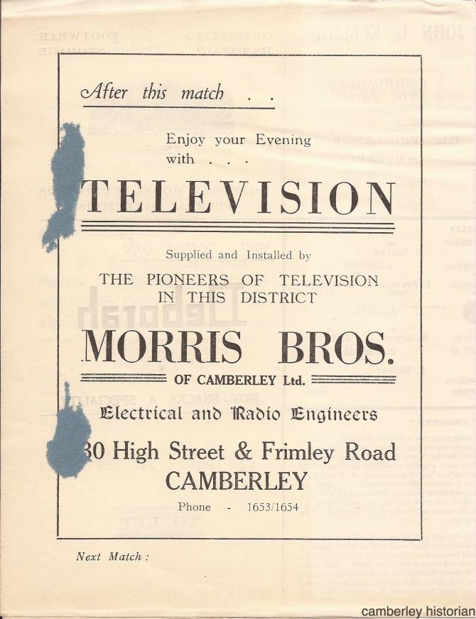 1953 Football programme 3