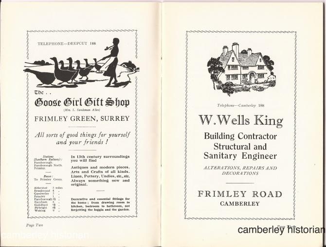 Camberley guidebook 1930s 2