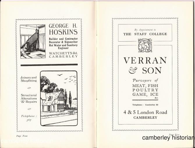 Camberley guidebook 1930s 3