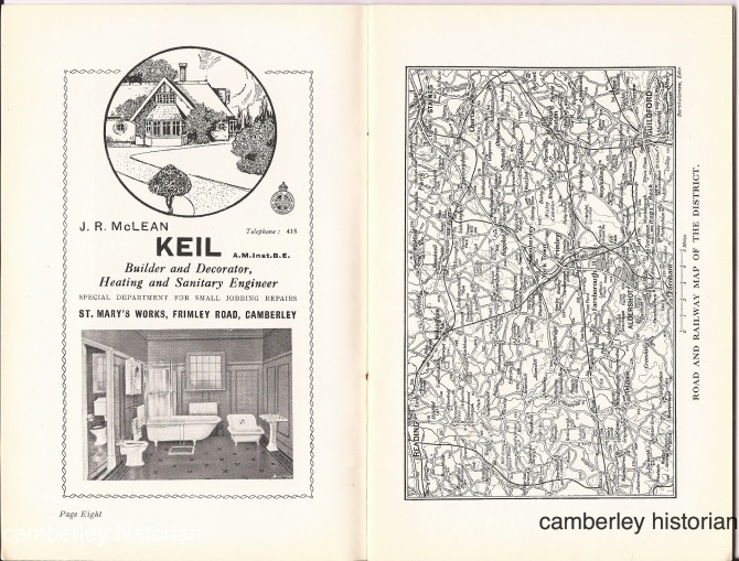 Camberley guidebook 1930s 5