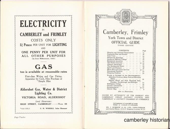 Camberley guidebook 1930s 7