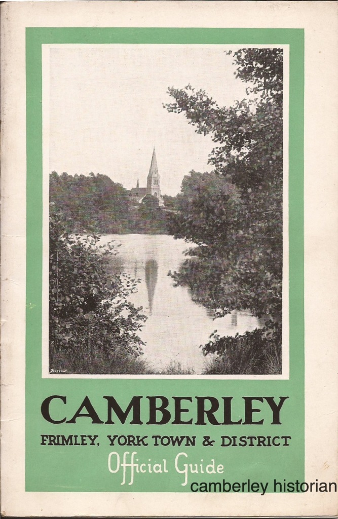 Camberley guidebook 1930s